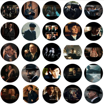 stickers of a world wide famous TV series, Peaky Blinders